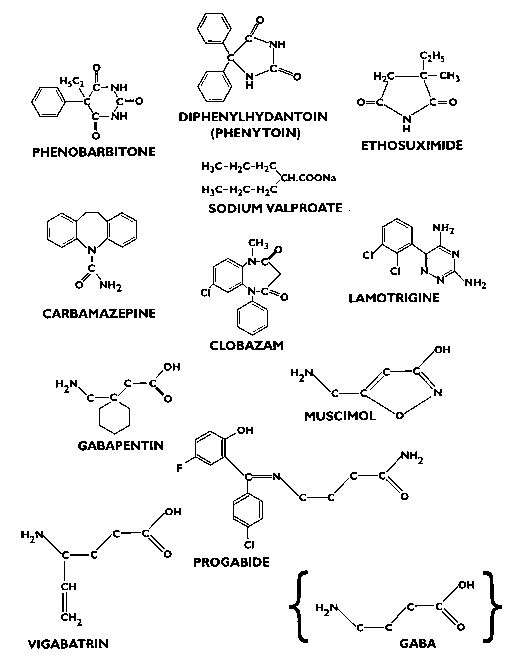 Anticonvulsants Drugs Structures