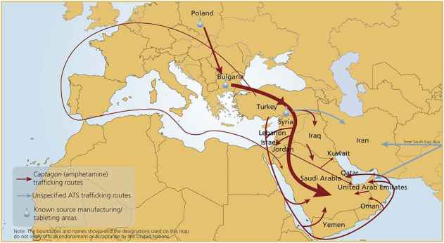 Amphetamine Smuggling Routes